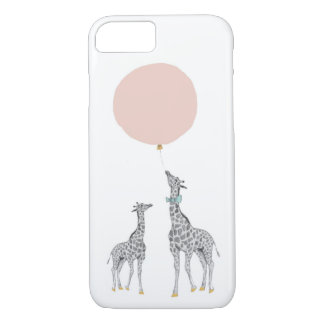 Giraffe & Pink Balloon iPhone 7 Case