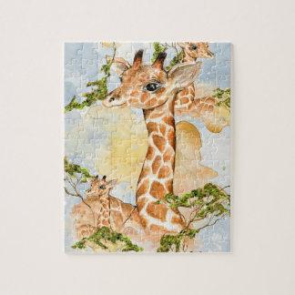 Giraffe Portrait Animal Picture Jigsaw Puzzle