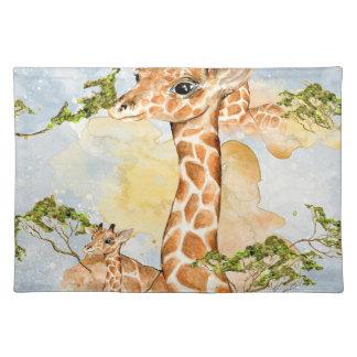 Giraffe Portrait Animal Picture Placemat