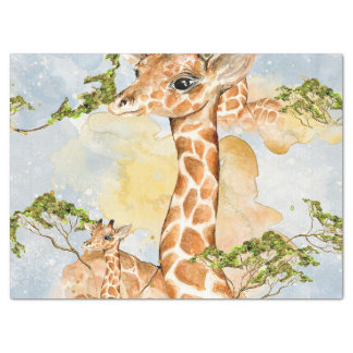 Giraffe Portrait Animal Picture Tissue Paper