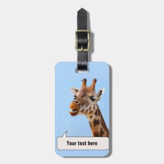 Giraffe Portrait custom luggage tag