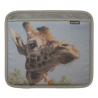 Giraffe portrait iPad sleeve