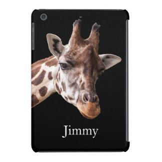 Giraffe Portrait - Name iPad Mini Case