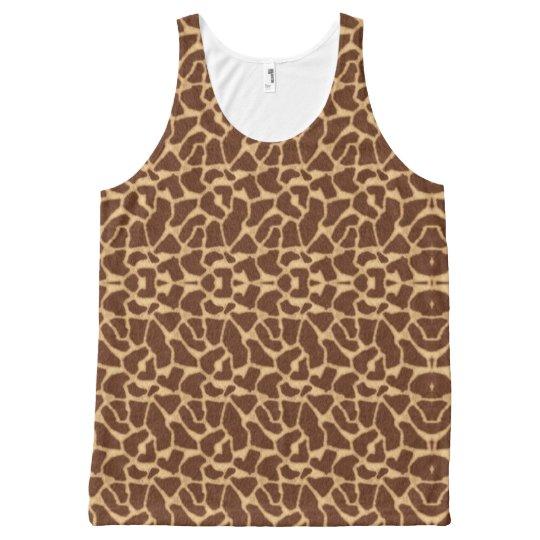 Giraffe Print All-Over Print Singlet