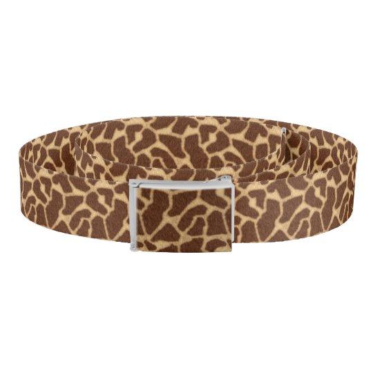 Giraffe Print Belt