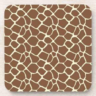 Giraffe Print Beverage Coasters