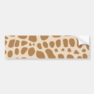 Giraffe Print Bumper Stickers