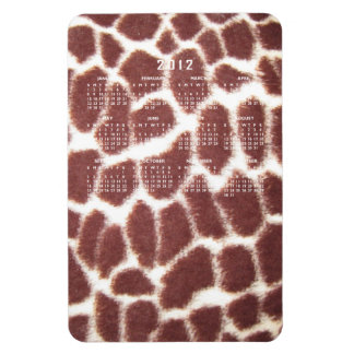 Giraffe Print Calendar Magnet