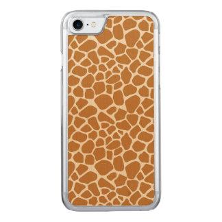 Giraffe Print Carved iPhone 8/7 Case