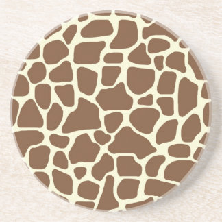 Giraffe print drink coasters