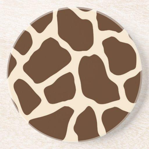 Giraffe Print Coasters