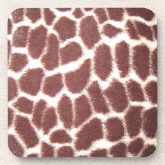 Giraffe Print Coaster Set