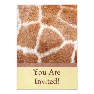 Giraffe Print Invitation