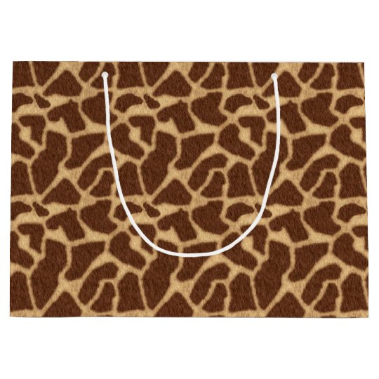 Giraffe Print Large Gift Bag