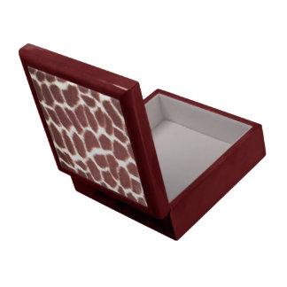 Giraffe Print Mahogany Jewelry Box