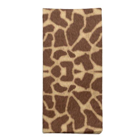 Giraffe Print Napkin