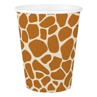 Giraffe Print Paper Cup