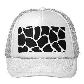 Giraffe Print Pattern. Animal Print Design, Black Cap