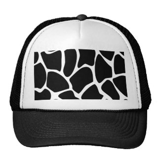 Giraffe Print Pattern. Animal Print Design, Black Cap