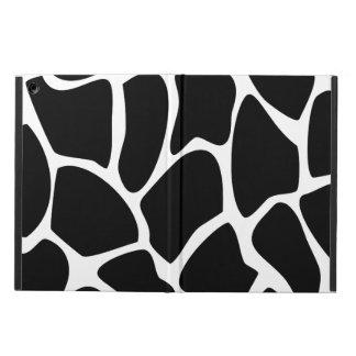 Giraffe Print Pattern. Animal Print Design, Black. iPad Air Covers