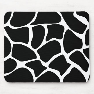 Giraffe Print Pattern Animal Print Design Black Mousepad
