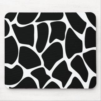 Giraffe Print Pattern. Animal Print Design, Black Mouse Pads