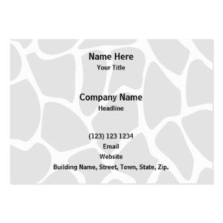 Giraffe Print Pattern. Animal Print Design, Black Pack Of Chubby Business Cards