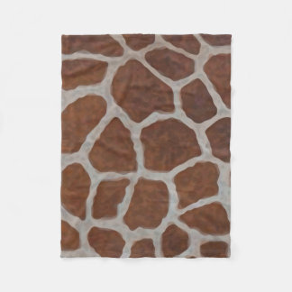 Giraffe Print Pattern Background Fleece Blanket