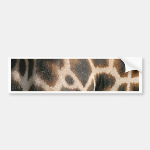 Giraffe Print Pattern Bumper Sticker