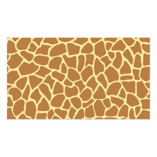 Giraffe Print Pattern. Business Cards