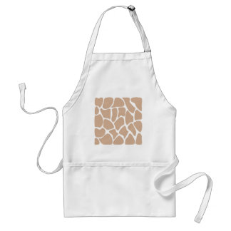 Giraffe Print Pattern in Beige Aprons