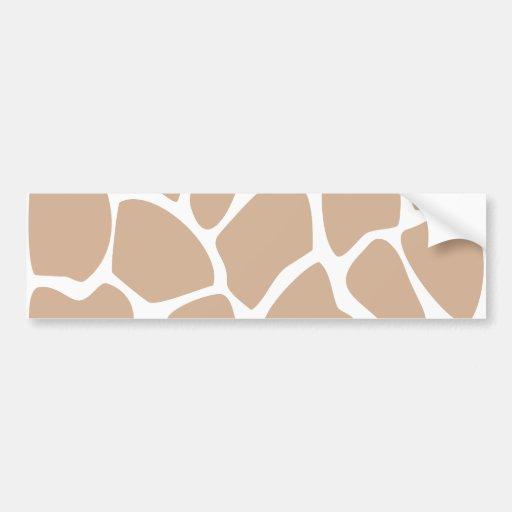 Giraffe Print Pattern in Beige. Bumper Sticker