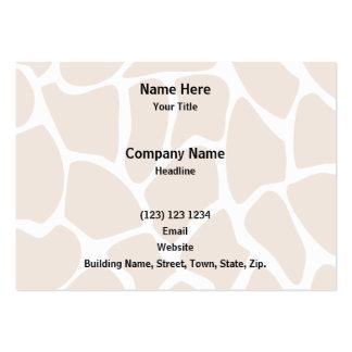 Giraffe Print Pattern in Beige. Business Card