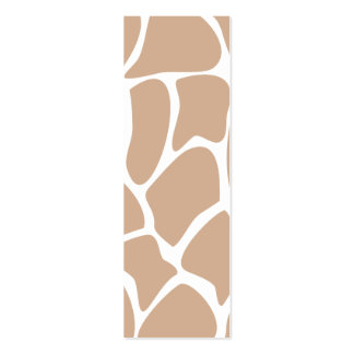 Giraffe Print Pattern in Beige. Double-Sided Mini Business Cards (Pack Of 20)