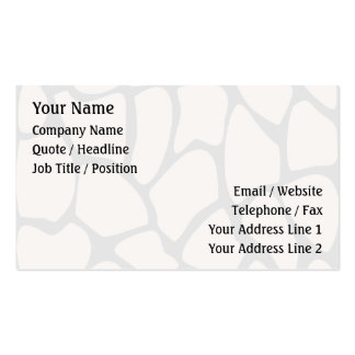 Giraffe Print Pattern in Beige. Double-Sided Standard Business Cards (Pack Of 100)