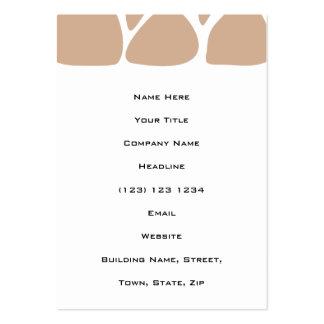 Giraffe Print Pattern in Beige. Business Cards