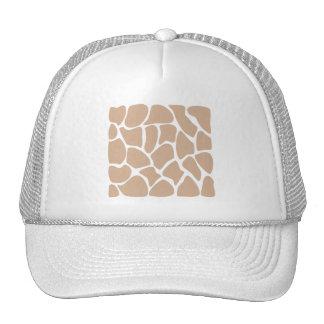 Giraffe Print Pattern in Beige. Trucker Hats