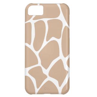 Giraffe Print Pattern in Beige. Case For iPhone 5C