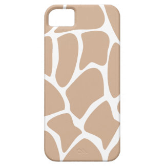 Giraffe Print Pattern in Beige. iPhone 5 Cases