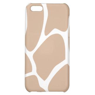 Giraffe Print Pattern in Beige. iPhone 5C Cases