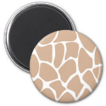 Giraffe Print Pattern in Beige. Refrigerator Magnet