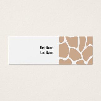 Giraffe Print Pattern in Beige. Mini Business Card