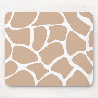 Giraffe Print Pattern in Beige. Mousepads