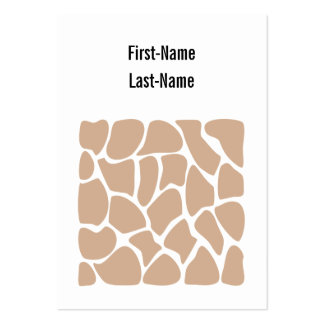 Giraffe Print Pattern in Beige. Pack Of Chubby Business Cards