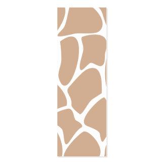 Giraffe Print Pattern in Beige. Pack Of Skinny Business Cards