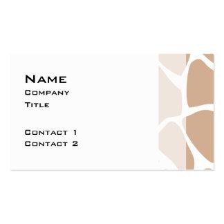 Giraffe Print Pattern in Beige. Pack Of Standard Business Cards