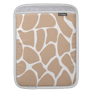 Giraffe Print Pattern in Beige. Sleeves For iPads