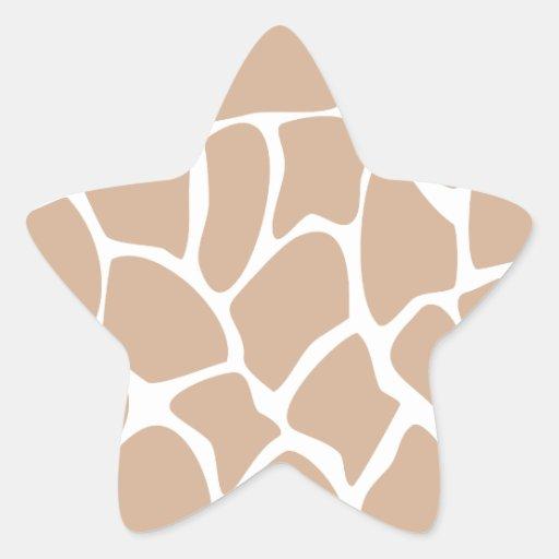 Giraffe Print Pattern in Beige. Sticker