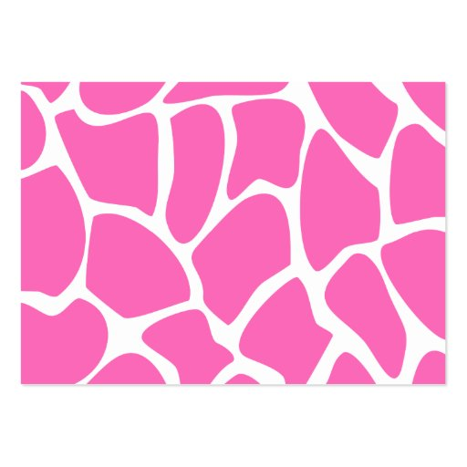 Giraffe Print Pattern in Bright Pink. Business Card Templates