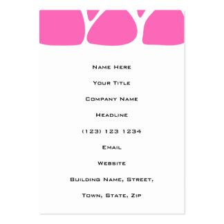 Giraffe Print Pattern in Bright Pink. Business Card